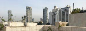 דירות לקניה בתל אביב - מוצאים בתל אביבית! נוף מפנטהאוז בעיר ברחוב דוד המלך.